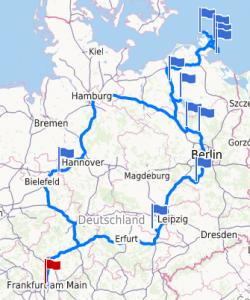 Route Rügen Ostern 2016